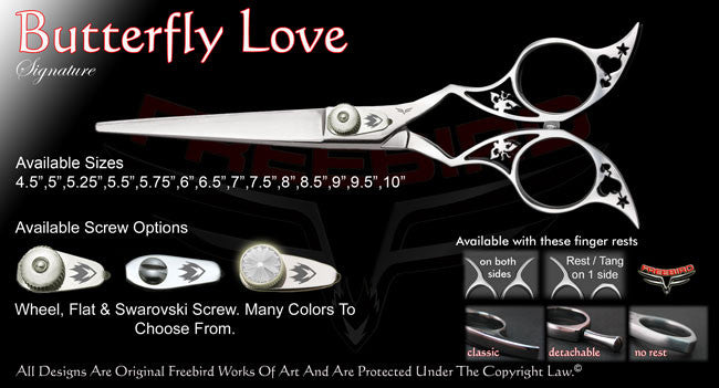 Butterfly Love Straight Signature Hair Shears
