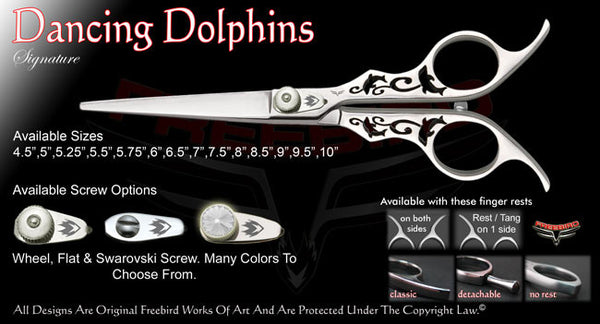 Dancing Dolphins Straight Signature Hair Shears