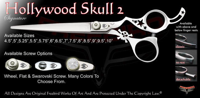Hollywood Skull 2 Signature Grooming Shears