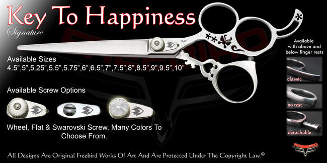 Key To Happiness 3 Hole Signature Grooming Shears