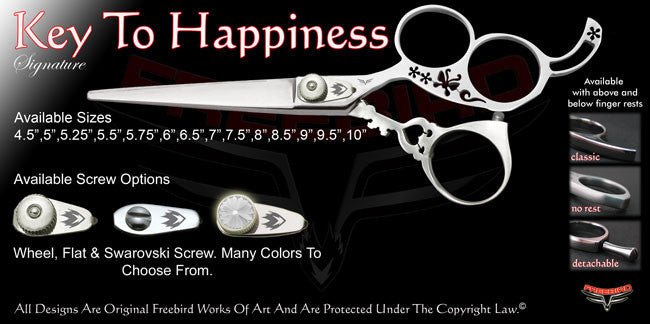 Key To Happiness 3 Hole Signature Hair Shears