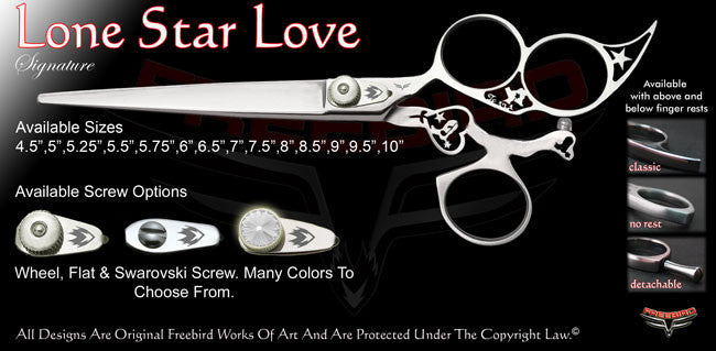 Lone Star Love 3 Hole Swivel Thumb Signature Grooming Shears