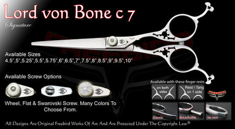 Lord Von Bone C7 Straight Signature Hair Shears