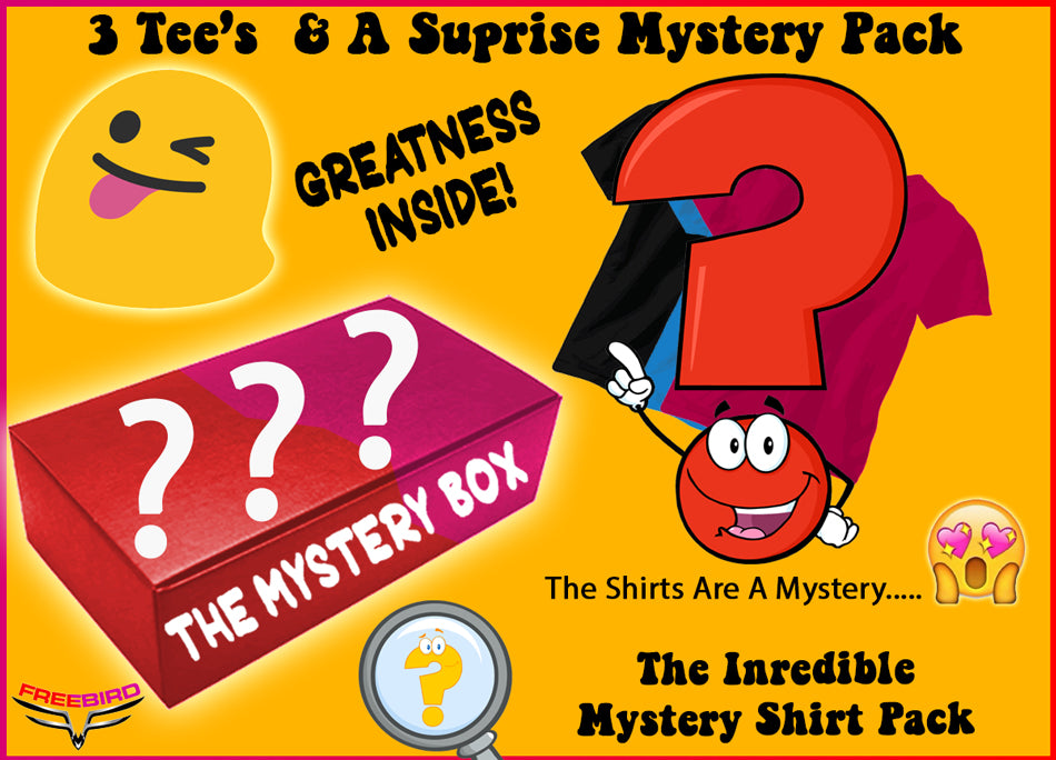 Super Fun $39.95 FREE Shipping 3 T-Shirt Mystery Boom Boom Box