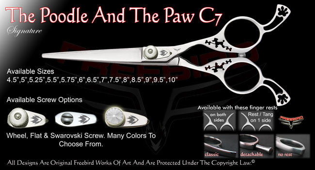 The Poodle And The Paw C7 Straight Signature Hair Shears