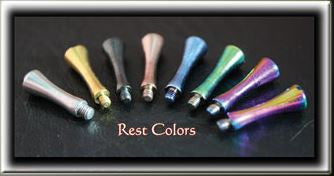 10 Mixed Titanim Colors Finger Rests 2.5mm