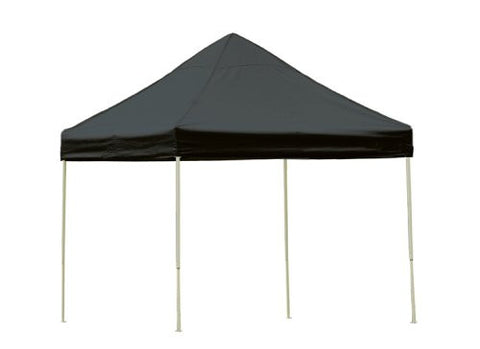 ShelterLogic 22585 10 ft. x 10 ft. Pro  Pop-up Canopy Straight Leg Black Cover - ShelterMall - 1