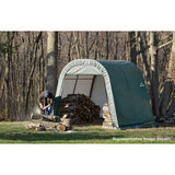 ShelterLogic 77827 11x12x10 ft.   Round Style Shelter - Green - ShelterMall - 2