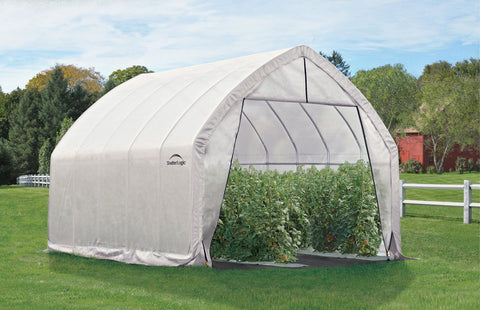 ShelterLogic 70560 13X20X12Ft/ 4X6,1X3,7M Heavy Duty Greenhouse (6) Rib High Arch Style All Steel Frame; (1) Translucent Pe Cover; (2) Double Zippered Doors With Screened Vents - ShelterMall