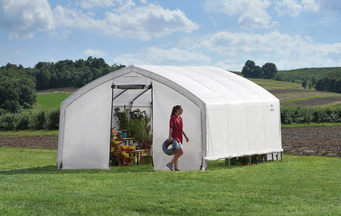 ShelterLogic 70691 12X20X9 Accelaframe Greenhouse, Hd 5.5 Oz Clear Fabric - ShelterMall - 1