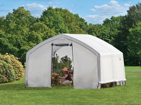 ShelterLogic 70693 12X10X9 Accelaframe Greenhouse, Hd 5.5 Oz Clear Fabric - ShelterMall - 1