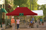 ShelterLogic 22550 10 ft. x 15 ft. Pro Pop-up Canopy Straight Leg Red Cover - ShelterMall - 2