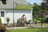 ShelterLogic 25677 ShadeLogic Sun Shade Sail Heavy Weight 16 ft. Square- Lime Green - ShelterMall - 2