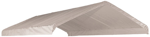 "ShelterLogic 10049 12 x 20 ft. White Canopy Replacement Cover Fits 2"" Frame - ShelterMall - 1"
