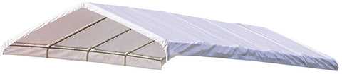 ShelterLogic 10149 Super Max 12 ft. x 30 ft. White Premium Canopy Replacement Cover Fits 2 in. Frame - ShelterMall - 1
