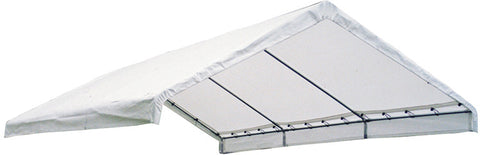 "ShelterLogic 20169 18×30 Canopy White Replacement Cover for 2"" Frame FR Rated - ShelterMall - 1"