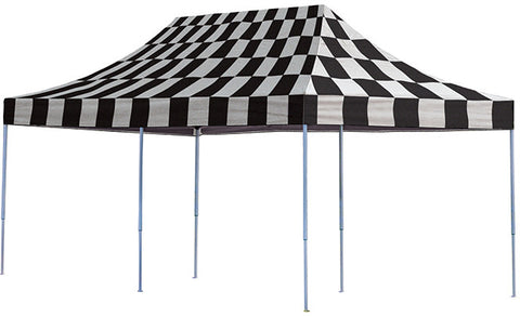ShelterLogic 22533 10ft. x 20ft. Pro Pop-up Canopy Straight Leg Checkered Flag Cover - ShelterMall - 1