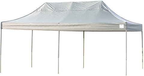 ShelterLogic 22534 10ft. x 20ft. Pro Pop-up Canopy Straight Leg White Cover - ShelterMall - 1