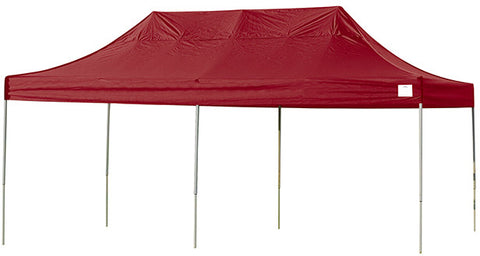 ShelterLogic 22537 10ft. x 20ft. Pro Pop-up Canopy Straight Leg Red Cover - ShelterMall - 1