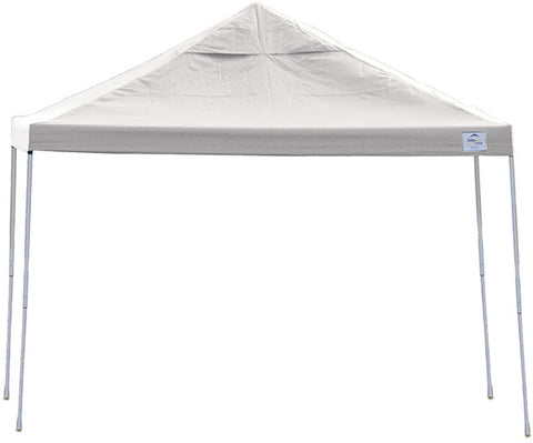 ShelterLogic 22538 12ft. x 12 ft. Pro Pop-up Canopy Straight Leg white Cover - ShelterMall - 1