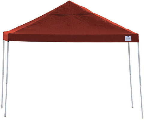 ShelterLogic 22539 12ft. x 12 ft. Pro Pop-up Canopy Straight Leg Red Cover - ShelterMall - 1