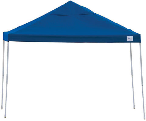 ShelterLogic 22540 12ft. x 12 ft. Pro Pop-up Canopy Straight Leg Blue Cover - ShelterMall - 1