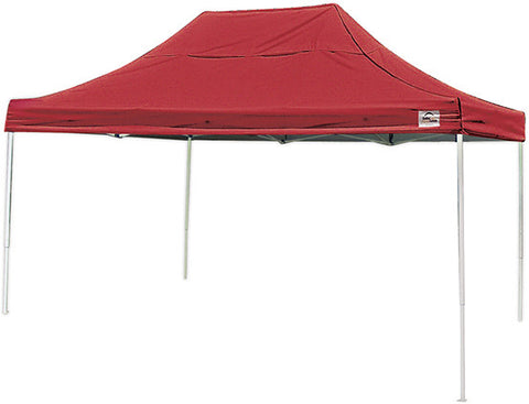 ShelterLogic 22550 10 ft. x 15 ft. Pro Pop-up Canopy Straight Leg Red Cover - ShelterMall - 1