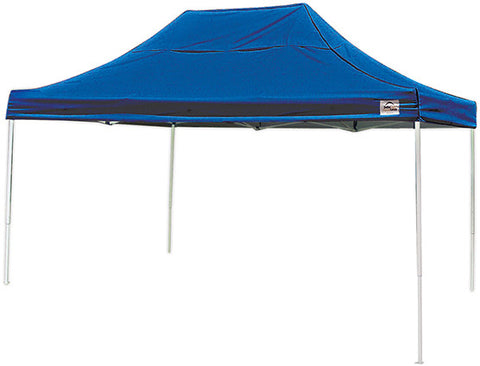 ShelterLogic 22551 10 ft. x 15 ft. Pro Pop-up Canopy Straight Leg Blue Cover - ShelterMall - 1