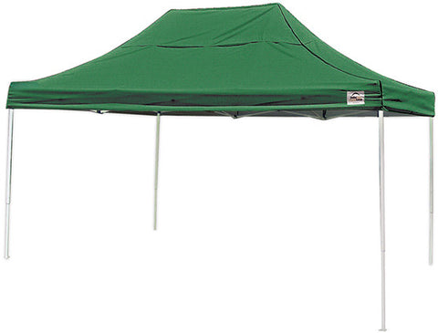 ShelterLogic 22552 10 ft. x 15 ft. Pro Pop-up Canopy Straight Leg Green Cover - ShelterMall - 1