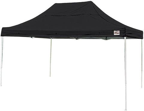ShelterLogic 22553 10 ft. x 15 ft. Pro Pop-up Canopy Straight Leg Black Cover - ShelterMall - 1