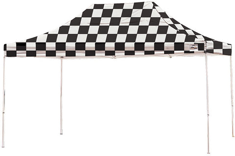 ShelterLogic 22555 10 ft. x 15 ft. Pro Pop-up Canopy Straight Leg Checker Flag Cover - ShelterMall - 1