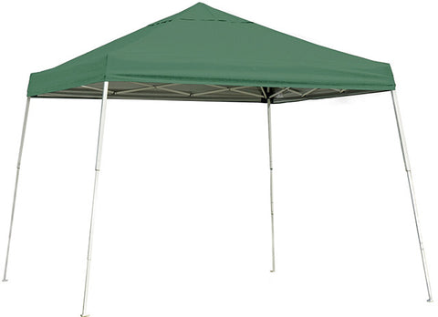 ShelterLogic 22557 10 ft. x 10 ft. Sport Pop-up Canopy Slant Leg Green Cover - ShelterMall - 1