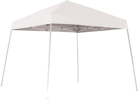 ShelterLogic 22558 10 ft. x 10 ft. Sport Pop-up Canopy Slant Leg White  Cover - ShelterMall - 1