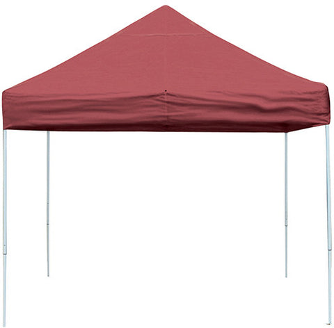 ShelterLogic 22561 10 ft. x 10 ft. Pro Pop-up Canopy Straight Leg Red Cover - ShelterMall - 1