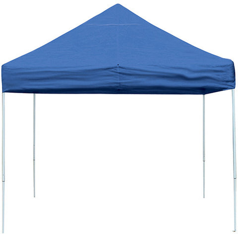 ShelterLogic 22562 10 ft. x 10 ft. Pro Pop-up Canopy Straight Leg Blue Cover - ShelterMall - 1