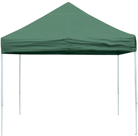 ShelterLogic 22563 10 ft. x 10 ft. Pro Pop-up Canopy Straight Leg Green Cover - ShelterMall - 1