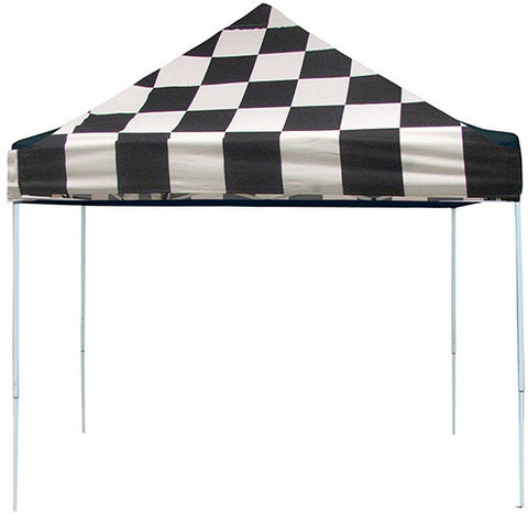 ShelterLogic 22565 10 ft. x 10ft. Sport Pop-up Canopy Slant Leg Checker Flag Cover - ShelterMall