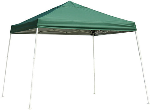 ShelterLogic 22589 12 ft. x 12 ft. Sport Pop-up Canopy Slant Leg Green Cover - ShelterMall