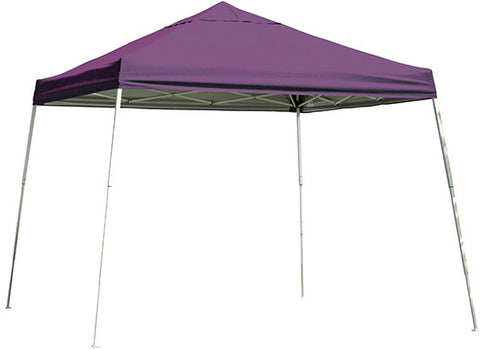 ShelterLogic 22706  12 ft. x 12ft. Sport Pop-up Canopy Slant Leg Purple Cover - ShelterMall