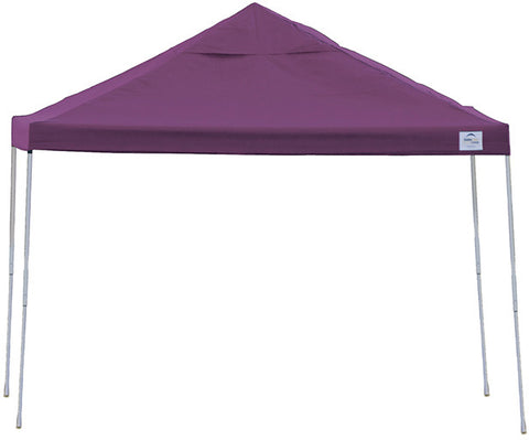 ShelterLogic 22707  12 ft. x 12ft. Pro Pop-up Canopy Straight Leg Purple Cover - ShelterMall
