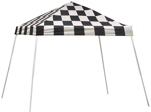 ShelterLogic 22776  10 ft. x 10 ft. Sport Pop-up Canopy Slant Leg Checkered Flag Cover - ShelterMall