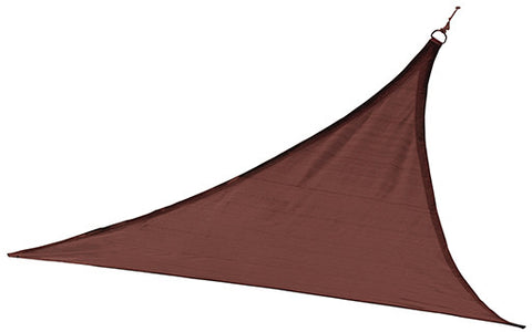 ShelterLogic 25670 ShadeLogic Sun Shade Sail Heavy Weight 12 ft. Triangle - Terra Cotta - ShelterMall