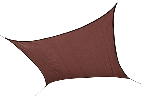 ShelterLogic 25672 ShadeLogic Sun Shade Sail Heavy Weight 12 ft. Square - Terra Cotta - ShelterMall