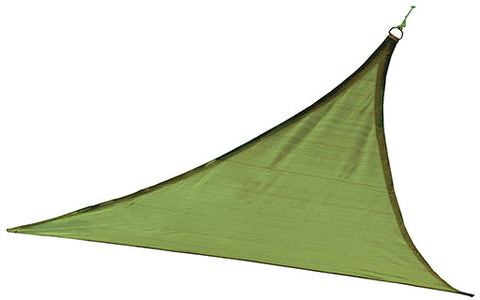 ShelterLogic 25675 ShadeLogic Sun Shade Sail Heavy Weight 16 ft. Triangle - Lime Green - ShelterMall