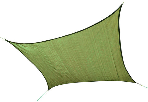 ShelterLogic 25676 ShadeLogic Sun Shade Sail Heavy Weight 12 ft. Square - Lime Green - ShelterMall