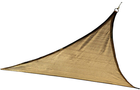 ShelterLogic 25720 ShadeLogic Sun Shade Sail Heavy Weight 12 ft. Triangle - Sand - ShelterMall