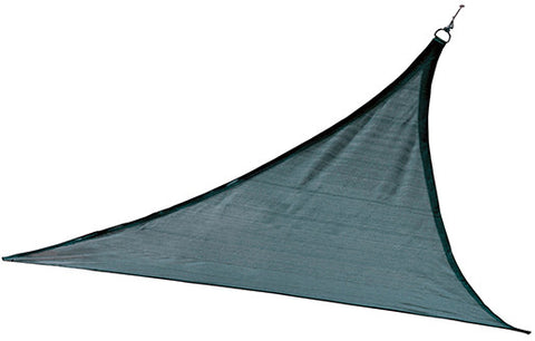ShelterLogic 25733 ShadeLogic Sun Shade Sail Heavy Weight 12 ft. Triangle - Sea Blue - ShelterMall - 1