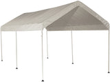 ShelterLogic 25757 10 ft. x 20 ft. Canopy 1-3/8 in. 3-Rib Frame White Cover - ShelterMall - 1