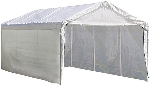 ShelterLogic 25774 Super Max 12 ft. x 20 ft. White Canopy Enclosure Kit - ShelterMall - 1