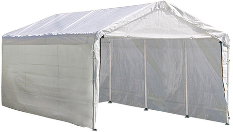 ShelterLogic 25775 Max AP 10 ft. x 20 ft. White Canopy Enclosure Kit Fits 1-3/8 in. Frame - ShelterMall